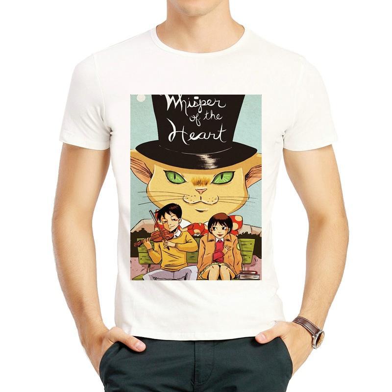 fad366d9b49 Whisper Of The Heart T Shirt Fashion Short Sleeve Miyazaki Hayao Whisper Of  The Heart T Shirt Top Tees Shirts Unisex T Shirt Awesome Shirt Designs  Funny ...