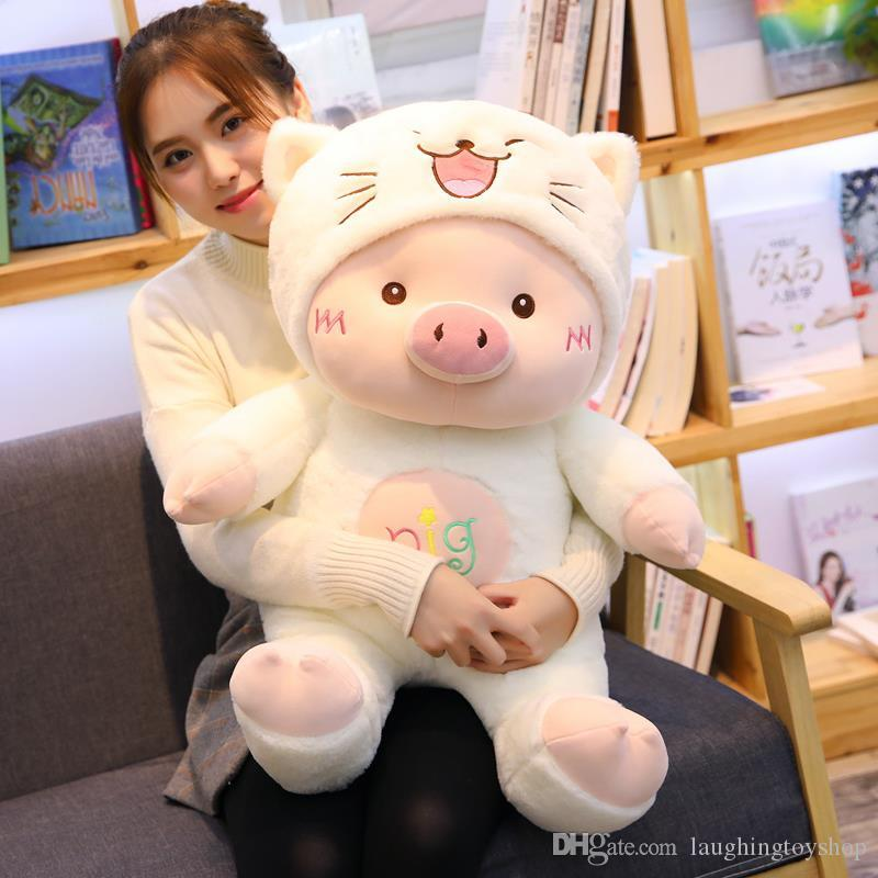 Lovely pig doll cute pig 2019 dolls girl sleeping pillow stuffed heart girls birthday gift for girlfriends
