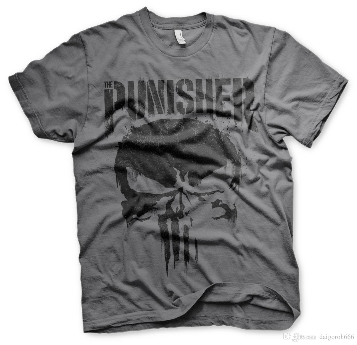 c7a7143094419 Official The Punisher Frank Castle Marvel Comics Grey T Shirt T Shirts Very  Funny T Shirts From Daigoroh666