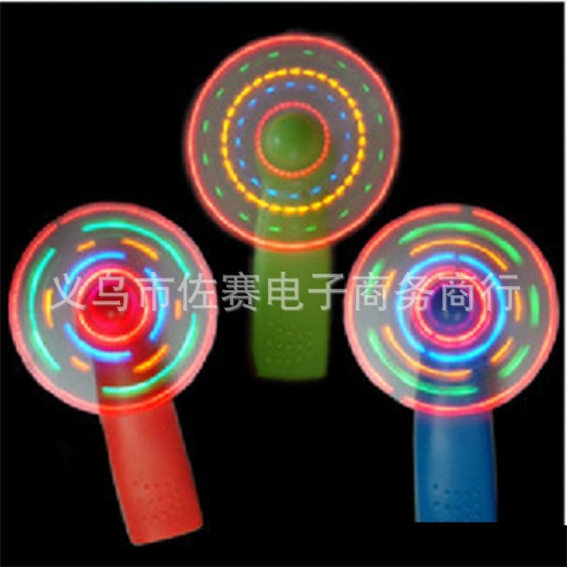 LED Fan Portable Mini Air Cool Toys Green Blue Light Originality Flashing Children Gift Summer 2 75zs F1