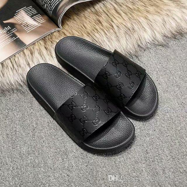 2019 New Women Men Slides Summer Luxury Designer Beach Indoor Flat G Shoes Brand Mens Sandals Slippers House Flip Flops With sandal