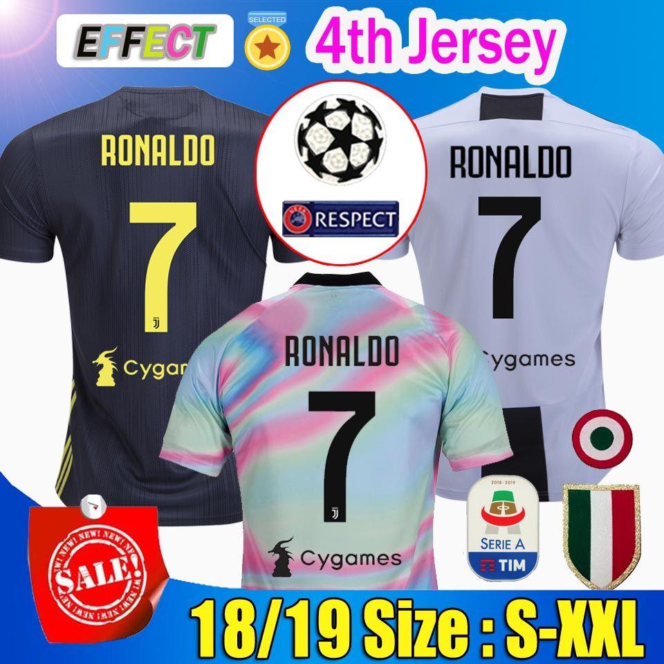Tailandia  7 RONALDO JUVENTUS Fútbol Camisetas 18 19 JUVE Soccer Jersey 2018  Casa Lejos Tercera Hombres Mujeres CR7 DYBALA MATUIDI KHEDIRA CHIELLINI ... 01bd397ffc211