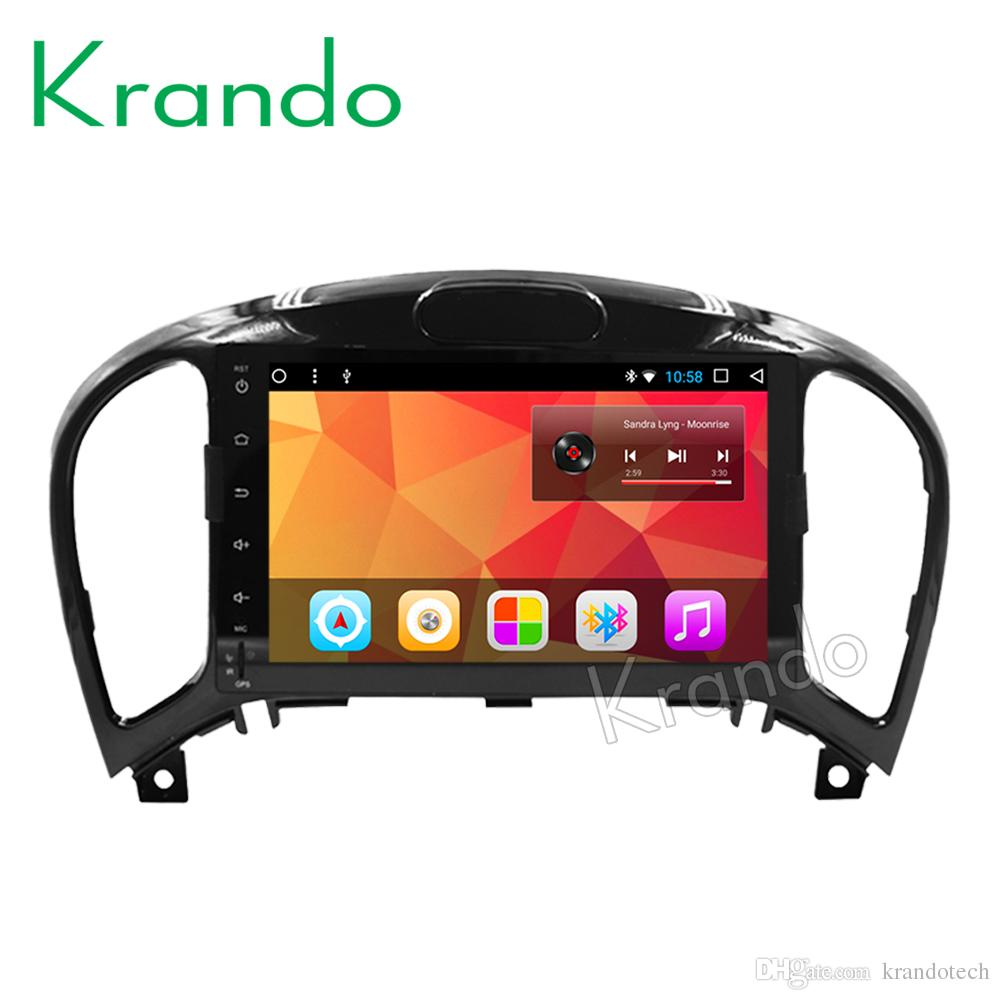 "Krando Android 8.1 8"" IPS Full touch Big Screen car Multmedia player for Nissan Juke audio player gps navigation system BT wifi car dvd"
