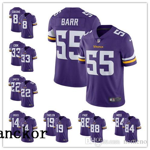 brand new a5c20 386ac Minnesota MEN WOMEN YOUTH 19 Adam Thielen 8 Kirk Cousins Limited Home  Jersey Football Vikings Purple Vapor Untouchable