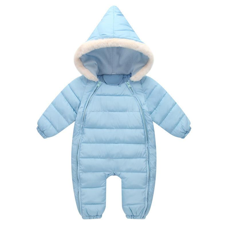 e50886163c05 2019 Good Quality Baby Boys Rompers Winter Casual Hooded Fur ...