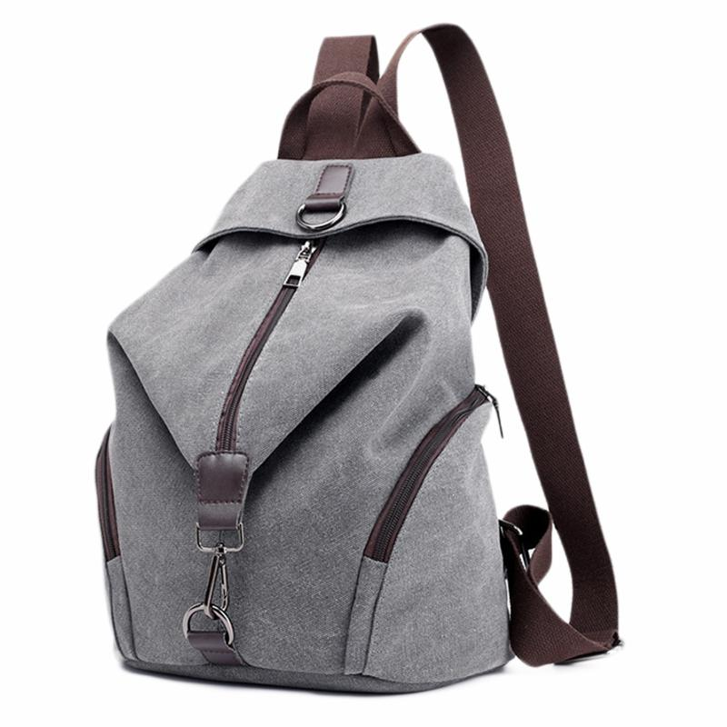 6ab6df3ee4 Acheter ABDB Canvas Backpack School Bag Casual College Travel Sac À  Bandoulière Sac À Bandoulière Pour Hommes Femmes Gris De $30.63 Du  Bluemoodd | DHgate.