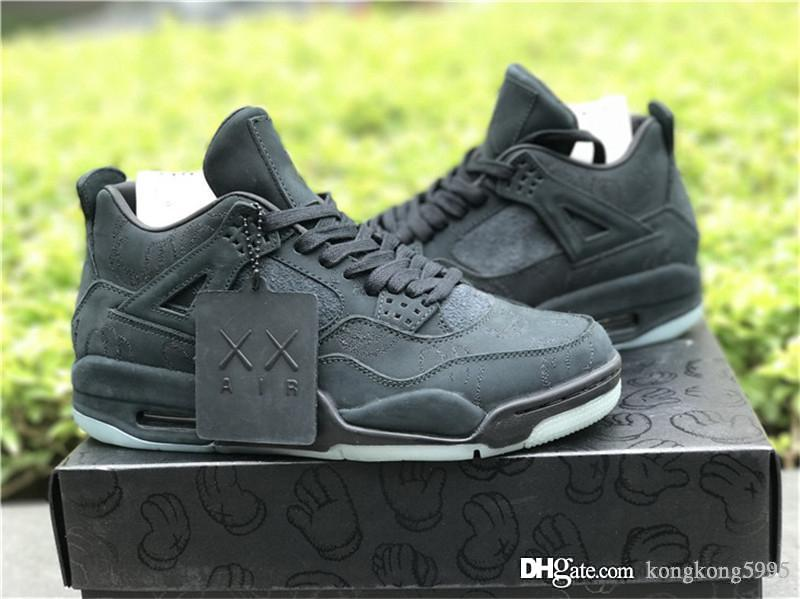 3c2b90107676 2019 New KAWS X 4 Black 4S IV Basketball Shoes For Men Authentic Quality  Sports Sneakers With Original Box 930155 001 Shoes Canada Carmelo Anthony  Shoes ...