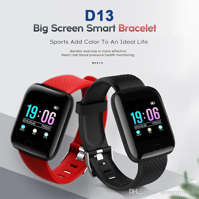 D13 Smart Band Watch Fitness Tracker Pedometer Bluetooth Sport ID 116 Plus  Smart Bracelet Wrist Bands Heart Rate Blood Pressure