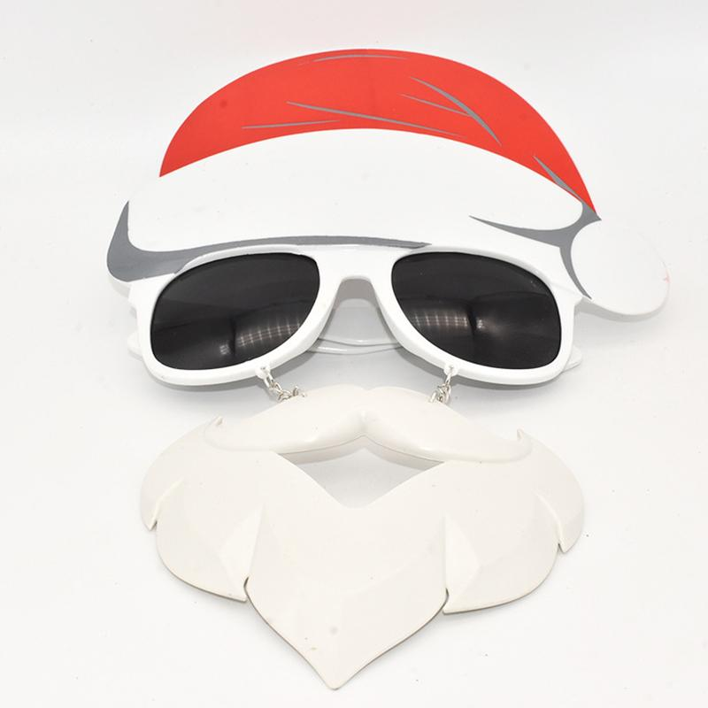 Bearded Santa Claus Cosplay Sunglasses Christmas Home Party Funny Glasses Gaming Prop Toy Spectacles Unisex Eyeglasses Frame R5