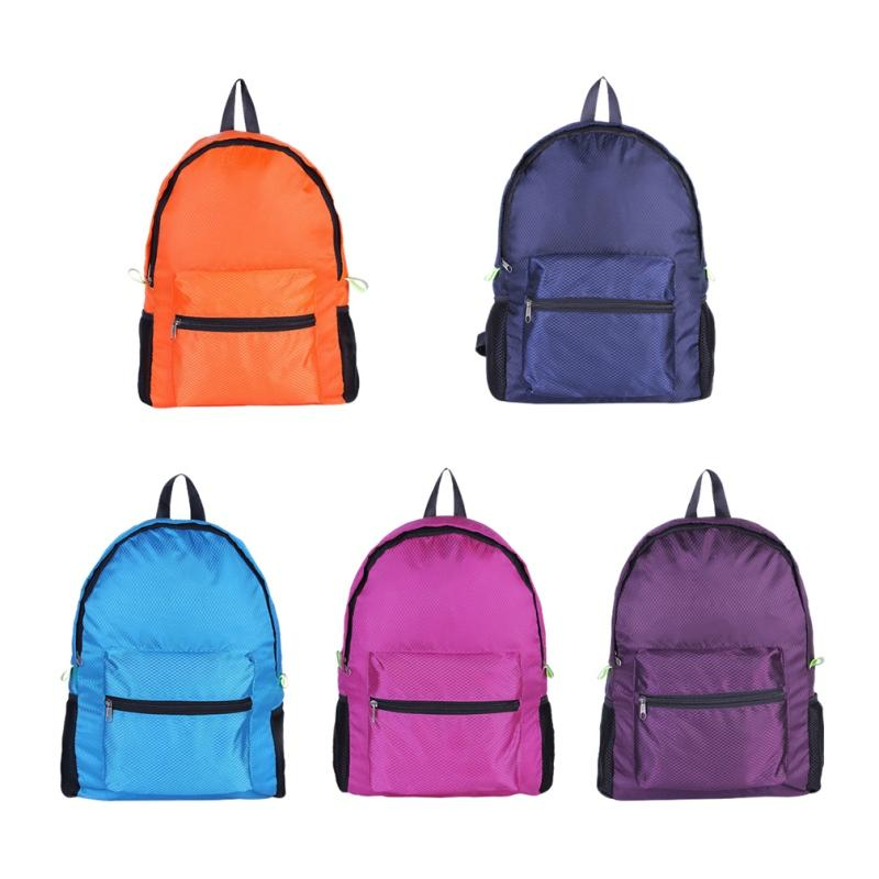 30c26b4e93fc Double Shoulder Backpack Diamond Pattern Large Capacity Nylon Lightweight  Folding Waterproof Breathable Gym Bag Sportswear