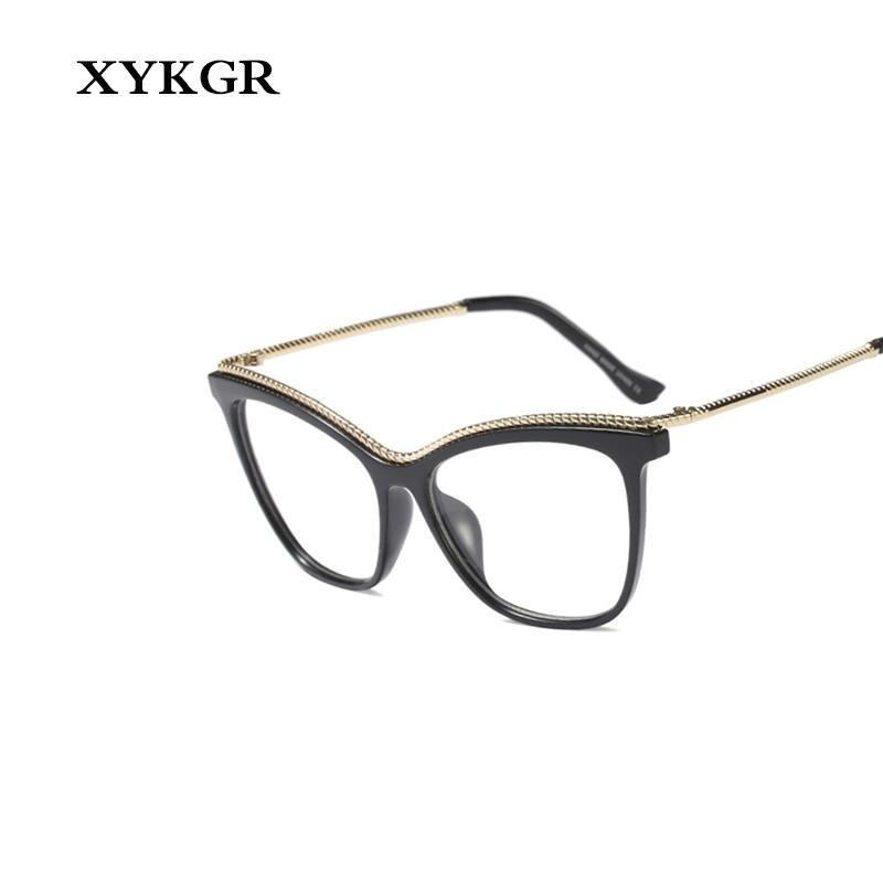 94b5ccb9536 2019 XYKGR Retro Cat Eyes Women S Optical Glasses Frame Fashion Trend  Computer Glasses Men And Women Black Leopard From Taihangshan