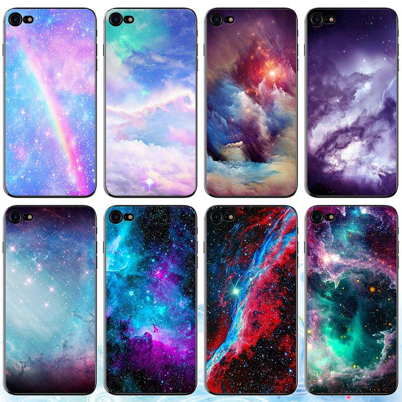 new styles 6e69f 42da1 3D Cartoon Outer Space Phone Case for IPhone X XS MAX XR Xmas 8 7 6 S 6S  Plus I Phone 6 Painting Shell Clear Back Cases Beautiful Cover