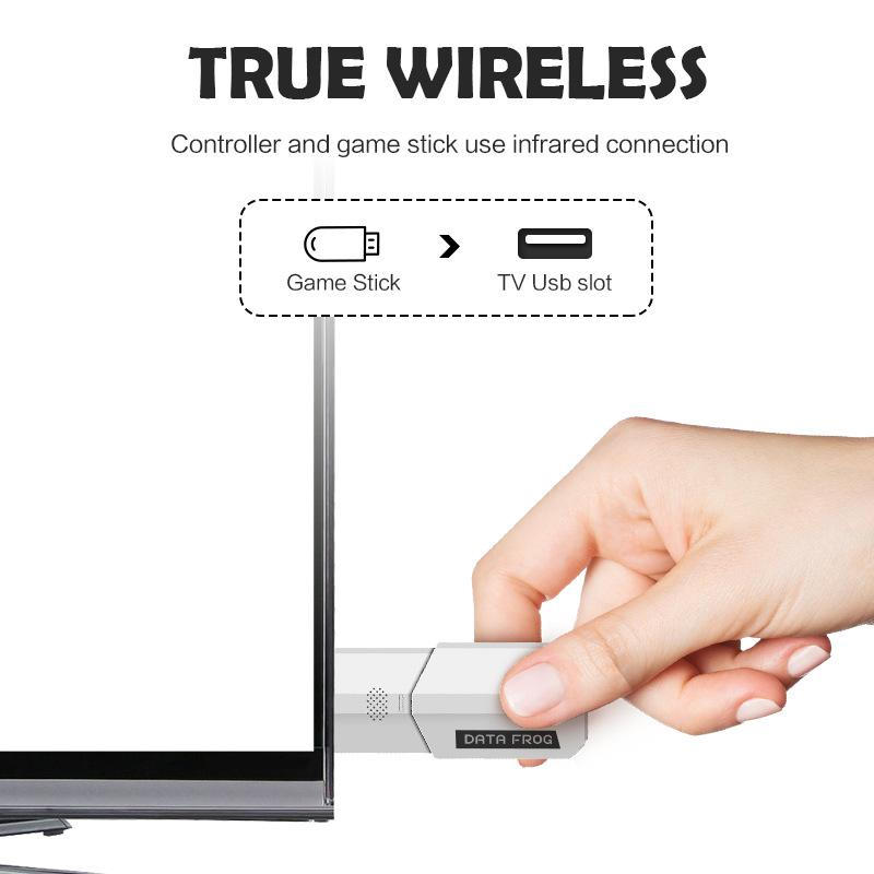 2018 New USB Wireless Handheld TV Video Game Console can store 620 games 8 Bit Game mini Console Dual Gamepad AV Output Free DHL