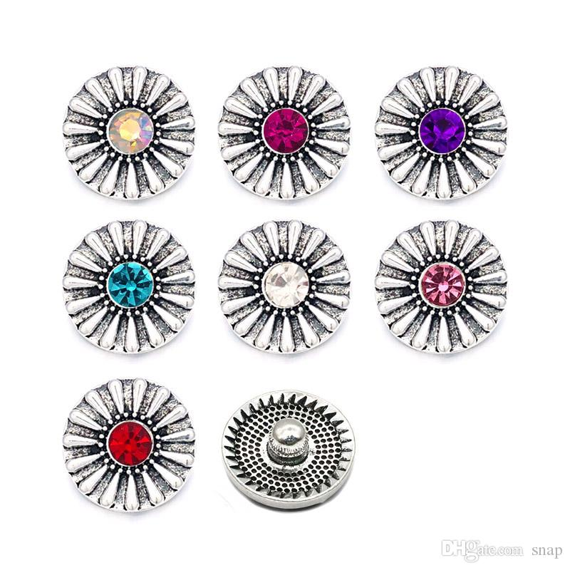 Snap Interchangeable Pea Green Rhinestone Jewelry Button 18mm Fits Ginger Snaps