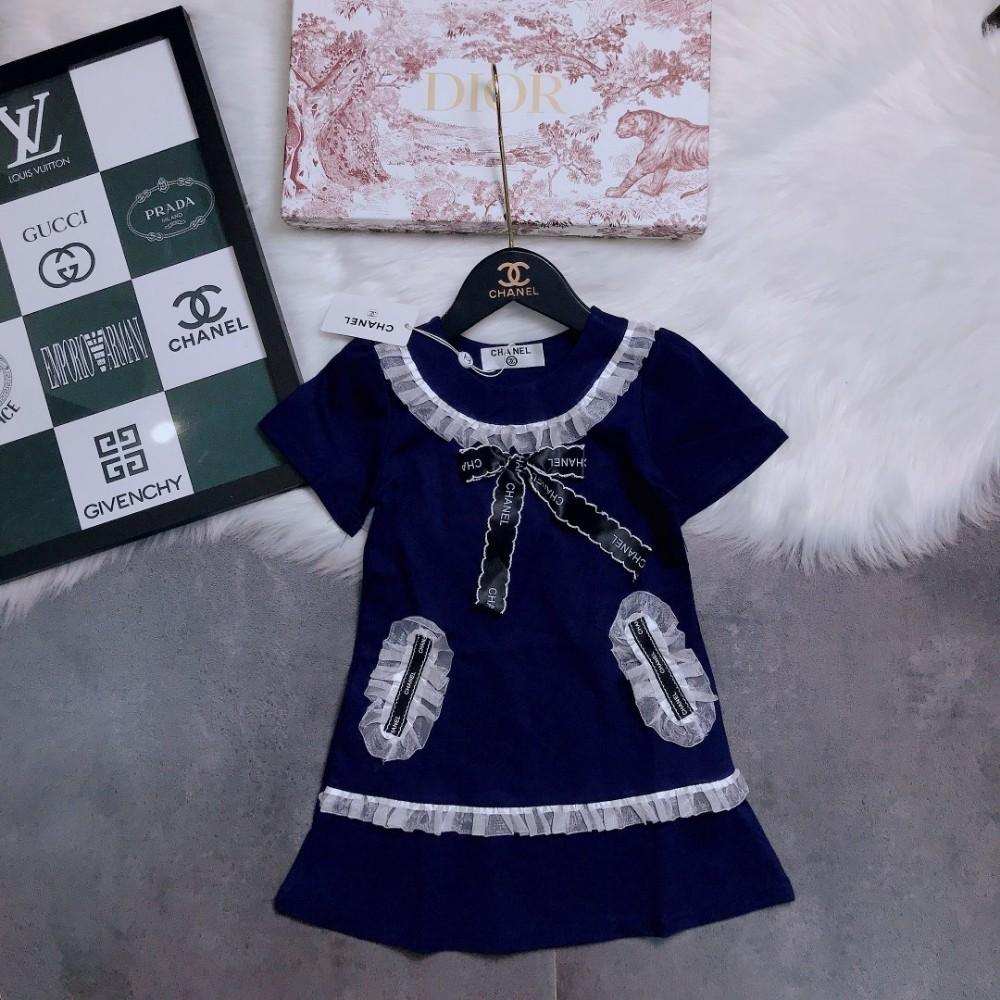 57bf7da3f338a 2019 New summer children's skirt girl's high quality dress double-sided  Odile cotton