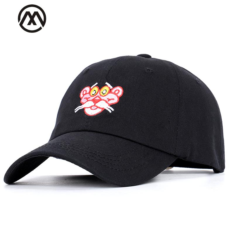 Cartoon Embroidered Pink Leopard Baseball Caps Unisex Adjustable Visor High  Quality Breathable Truck Driver Hats Animal Bone Baseball Caps Custom Hats  From ... 9669c1a1abb6