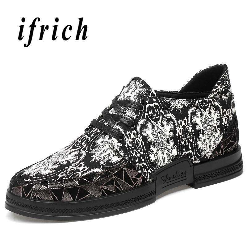 Top Quality Men Walking Shoes Hidden Heel Young Casual Men Footwear