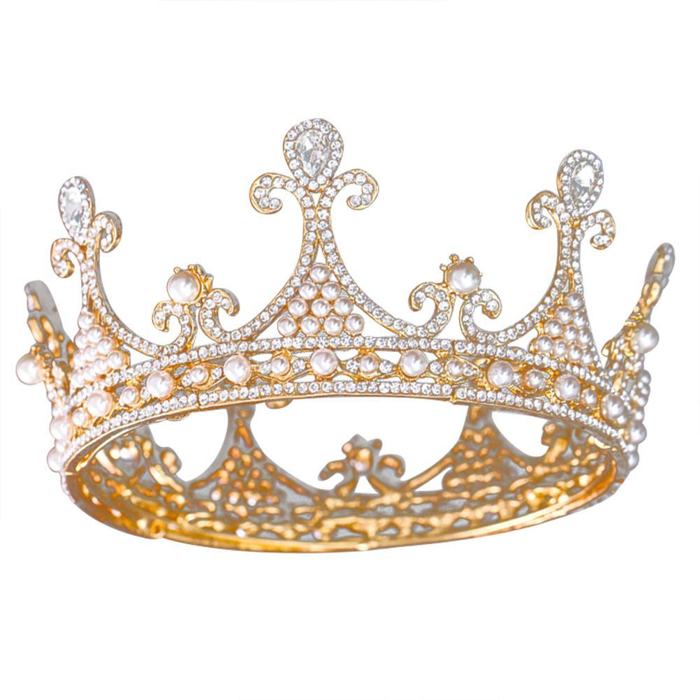 Women Vintage Tiara Crown Crystal Rhinestone Bridal Hairband Party Hair Accessories for Wedding Party Banquet