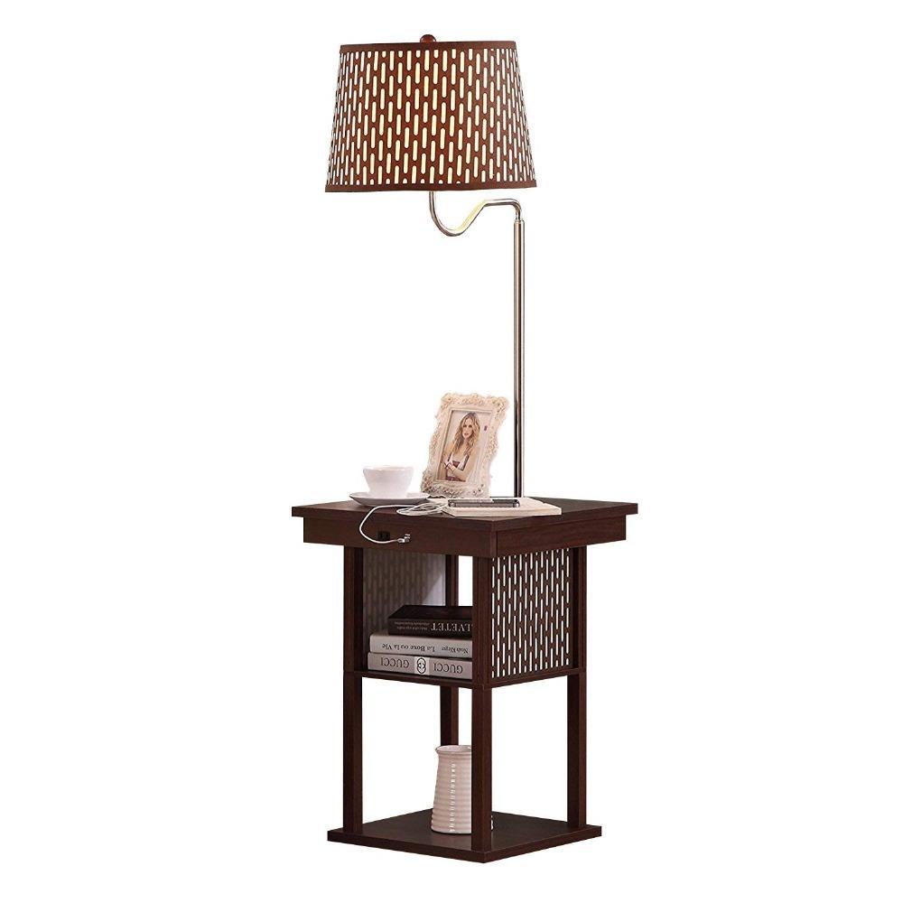2019 Mid Century Modern Floor Lights Nightstand Shelves Usb Port