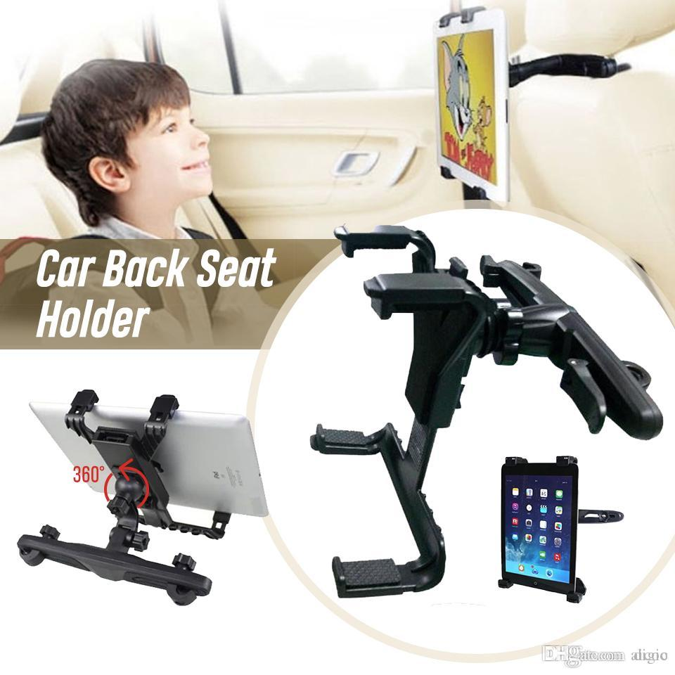 Car Back Seat Holder 360 Degree Rotation Bracket Clip For iPad Air 1 2 Pro New 2017 9.7 10.5 Mini GPS Samsung Huawei Tablet PC Retailbox