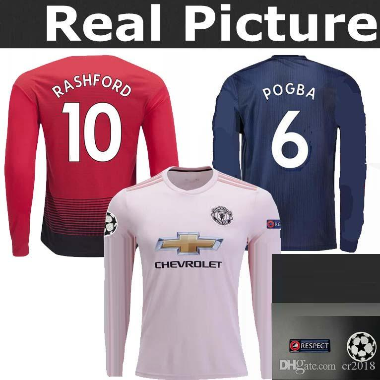 ac4186f03 Manchester United Jersey Top Best Quality 18 19 Long Sleeve Jersey