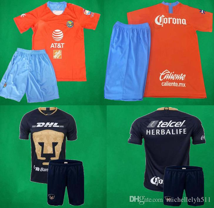 a94a3ad6b0d 2019 19 20 America Soccer Jersey Shorts 2019 LIGA MX Club America Football  Sets 2020 UNAM Chivas De Guadalajara Third Soccer Kits From Michellelyh511