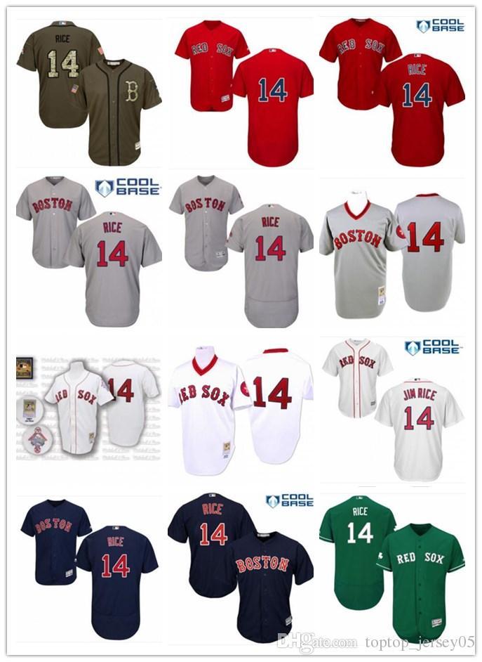 6ec974155 2018 Boston Red Sox Jerseys #14 Jim Rice Jerseys men#WOMEN#YOUTH#Men's  Baseball Jersey Majestic Stitched Professional sportswear