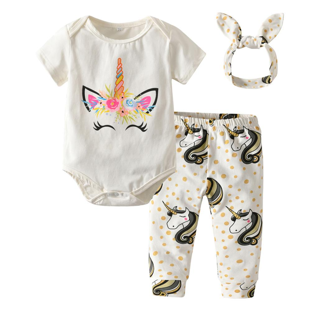 f91806d325b6 2019 Baby Girls Clothes Newborn Infant Clothing Sets Cotton Cartoon ...
