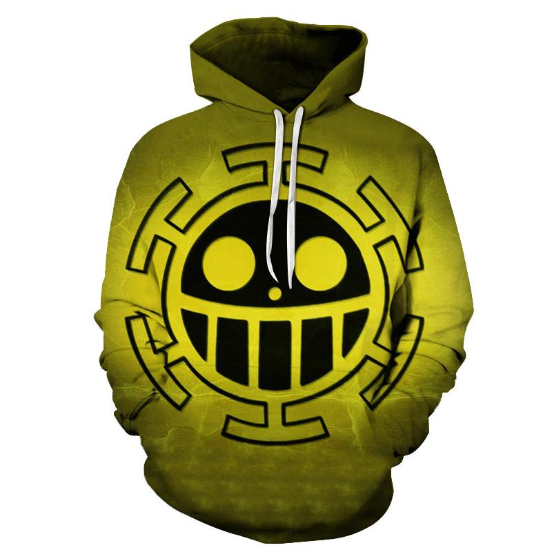Anime One Piece Hoodie 3d Print Pullover Sweatshirt Monkey D Luffy Ace Sabo Kaido Battle Tracksuit Outfit Hoodies Outerwear Men's Clothing