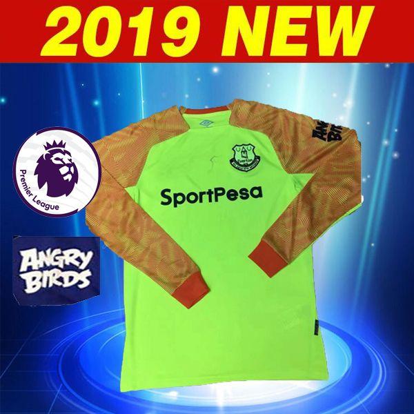18 19 Portero Del Everton FC 1   VIRGINIA Camiseta De Fútbol Verde 2018  2019 Everton A CASA Lejos 10 SIGURDSSON 23 COLEMAN Camiseta De Fútbol De Manga  Larga ... c1b041975f0e3