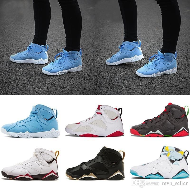 new concept da844 0a4f3 2019 Newest 7s VII Olympic Sweater Tinker Alternate 7 Raptor Hare Bordeaux  GG Cardinal University Blue Basketball Shoes Men Sneakers Basketball Shoes  For ...