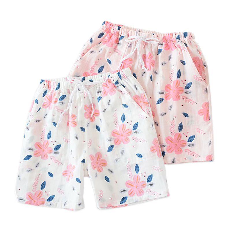 Unterwäsche & Schlafanzug Sleepwear Women Gauze Shorts Pajama Shorts Pants Soft Cotton Sleep Shorts