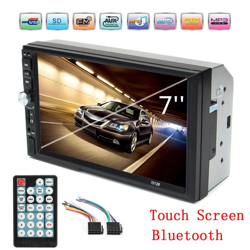2019 2 Din 7 Tft 1080p Hd Touch Screen Bluetooth Car Mp5 Video