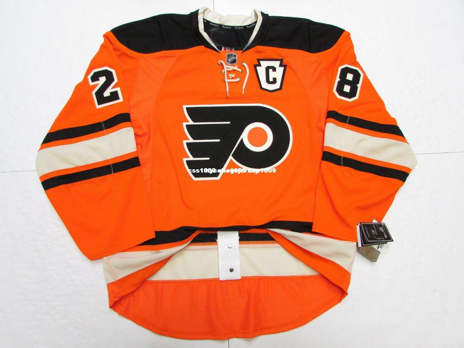 Cheap custom Claude Giroux PHILADELPHIA FLYERS THIRD TEAM ISSUED JERSEY stitch add any number any name Mens Hockey Jersey XS-6XL