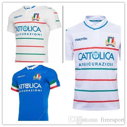c9495be6a18 Italia 2019 2020 Home Away Rugby Jerseys Fir Shirt Blue White