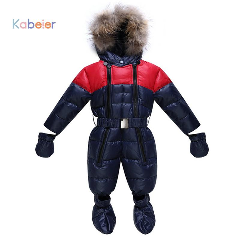 f49b89525 Baby Snowsuit Boy Girl Clothing Rompers Winter Brand Infant Snow ...