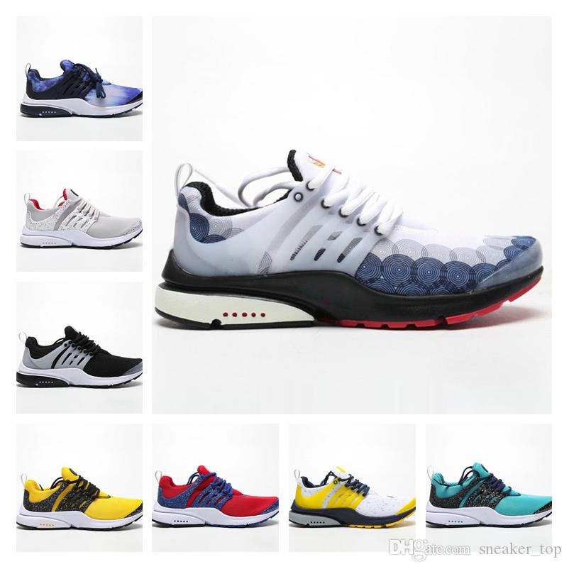 d13c2dab38 QS Running Shoes Mens Coloured drawing or pattern men Athletic Sports  Sneakers Presto Designer Shoes With Box Size 36-45