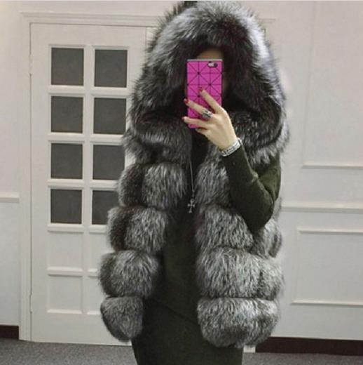 64b8f824cf New 2019 Winter Women's Faux Fur Coat Artificial Fur Vest Warm Vests ...