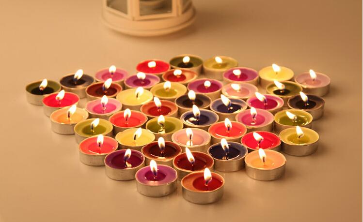 Tealights Tea Lights Candle Wedding Party Decoration Home Colorful Light Candles Amazing Beeswax Fall Scents