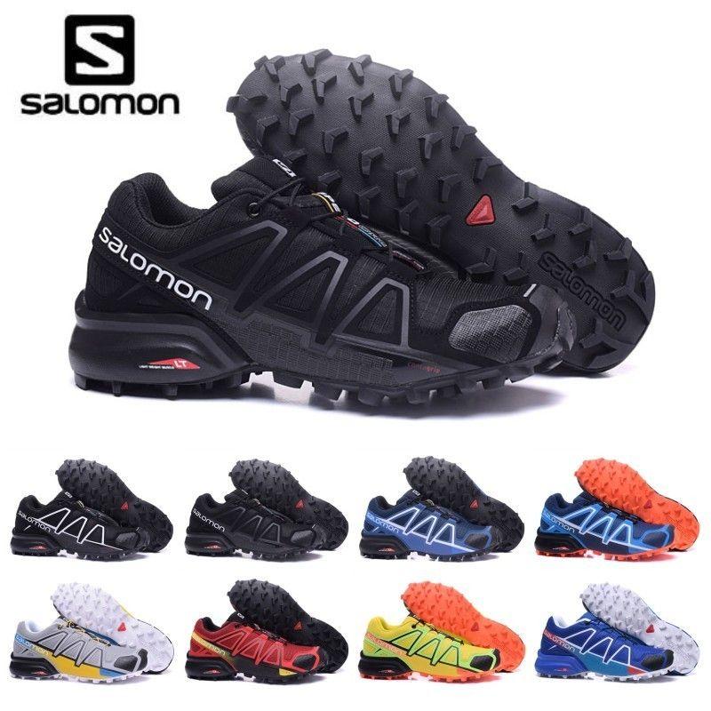 2019 salomon speed cross 4 iv cs trail laufschuhe für männer schwarz rot blau outdoor wandern athletic sport turnschuhe größe 40 46