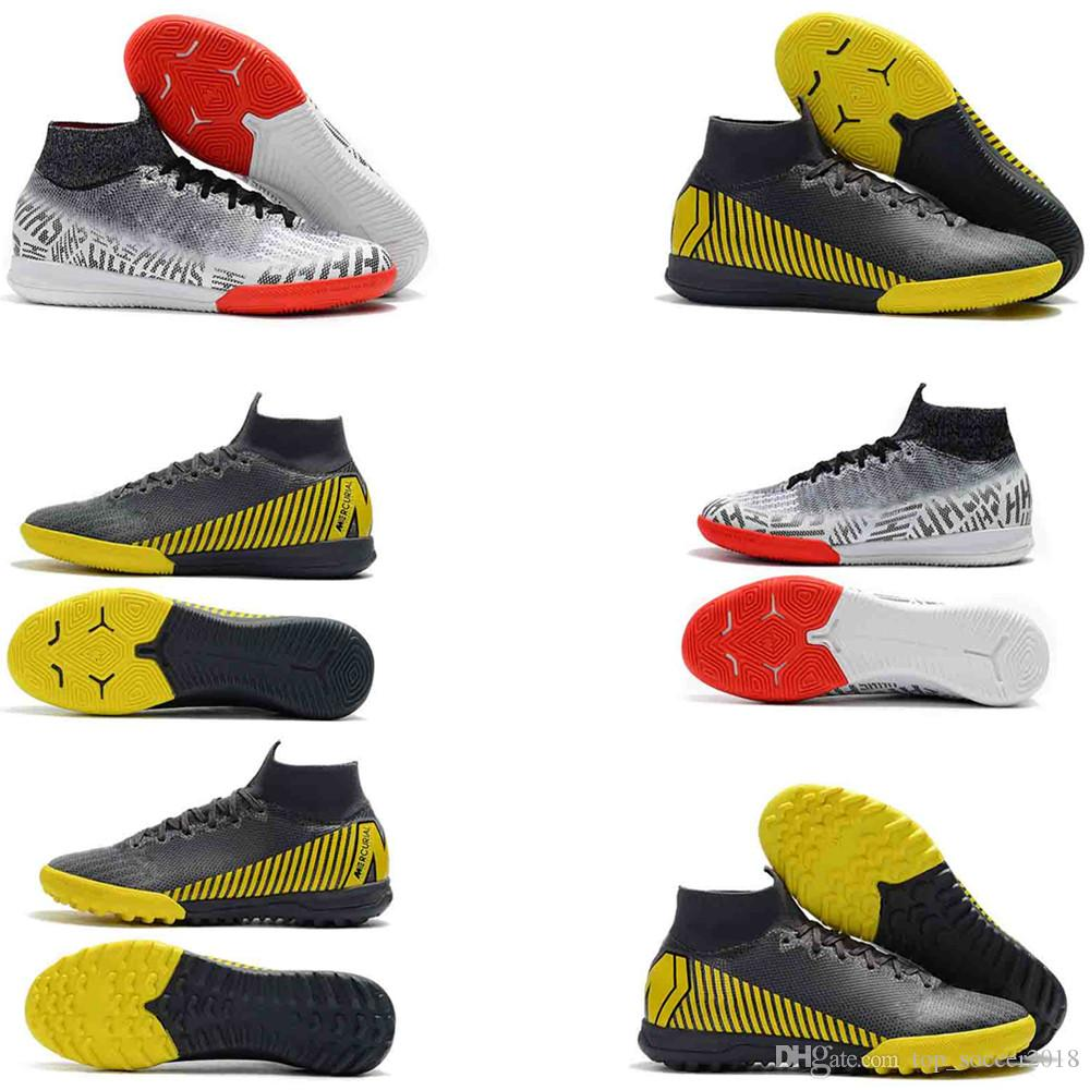 d2fbff1dd30 2019 Mercurial Superfly VI 360 Elite IC TF Soccer Shoes Mens Cleats  SuperflyX 6 Elite 12 CR7 Ronaldo Neymar 20th Football Boots From  Top soccer2018