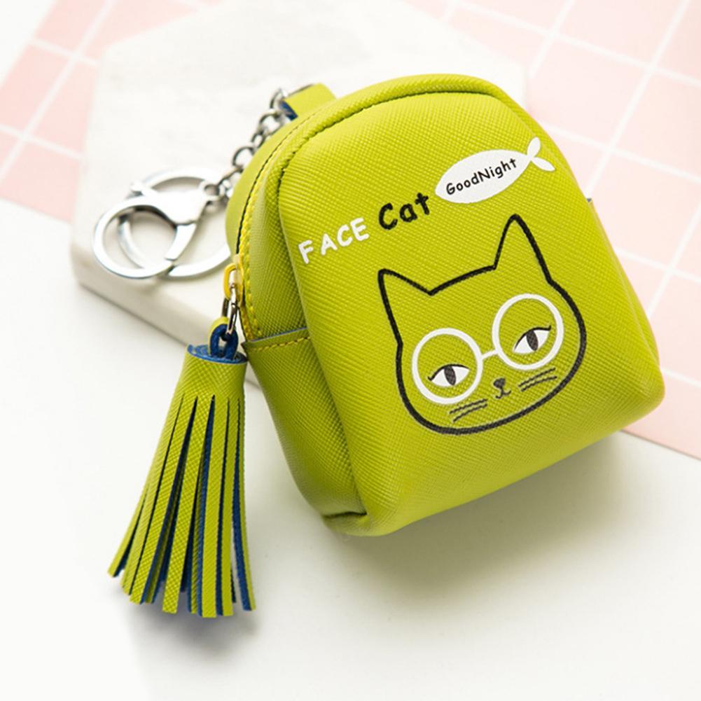 7546e9bec3549 Cartoon Rabbit Cat Lovely Zipper Tassel Coin Purse Small Key Cards Storage Wallet  Women Girls Kids Short Cute Key Chain Wallet Pink Handbags Leather Handbag  ...