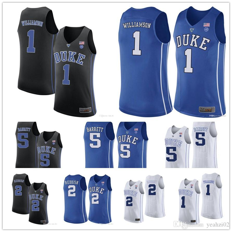 382a0d12a89c 2019  1 Zion Williamson Ncaa Duke Blue Devils College Jersey 2 Cameron  Reddish 5 R.J. RJ Barrett University Basketball Jerseys Mens Embroidery From  Yeahzi02 ...