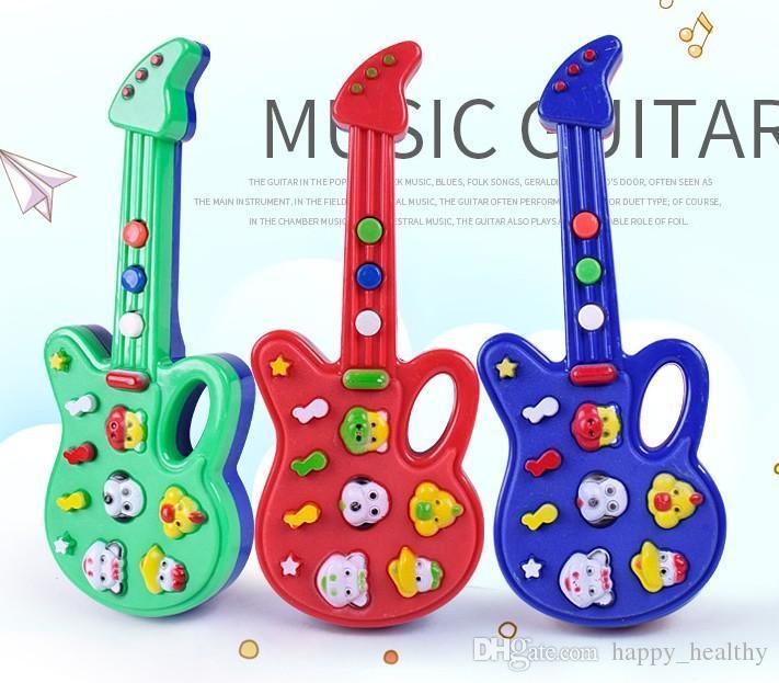 Dhl 72 Unids Nueva Moda De Dibujos Animados De Juguete De Guitarra De Música De Alta Calidad Guitarra Eléctrica Niños Instrumentos Musicales