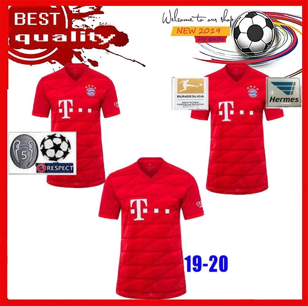 detailed look 8df06 80847 New 2019 2020 Bayern Munich JAMES RODRIGUEZ Soccer jersey 2018 2019  LEWANDOWSKI MULLER KIMMICH jersey 19 20 HUMMELS Football shirt