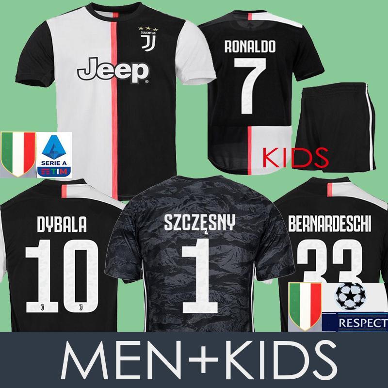brand new 350e8 c7bde MEN Kids RONALDO Soccer Jersey Juventus DYBALA Football Shirt MANDZUKIC  CHIELLINI 2019/20 Juve Goalkeeper Camiseta BERNARDESCHI Maillot