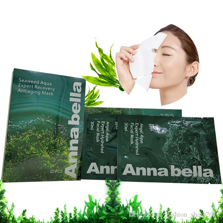 Thailand Annabella Seaweed Brightening Hydrating Skin Care Oil Control Oxygen Fabric Face Mask Shrink Pore Moistuizing Facial Mask
