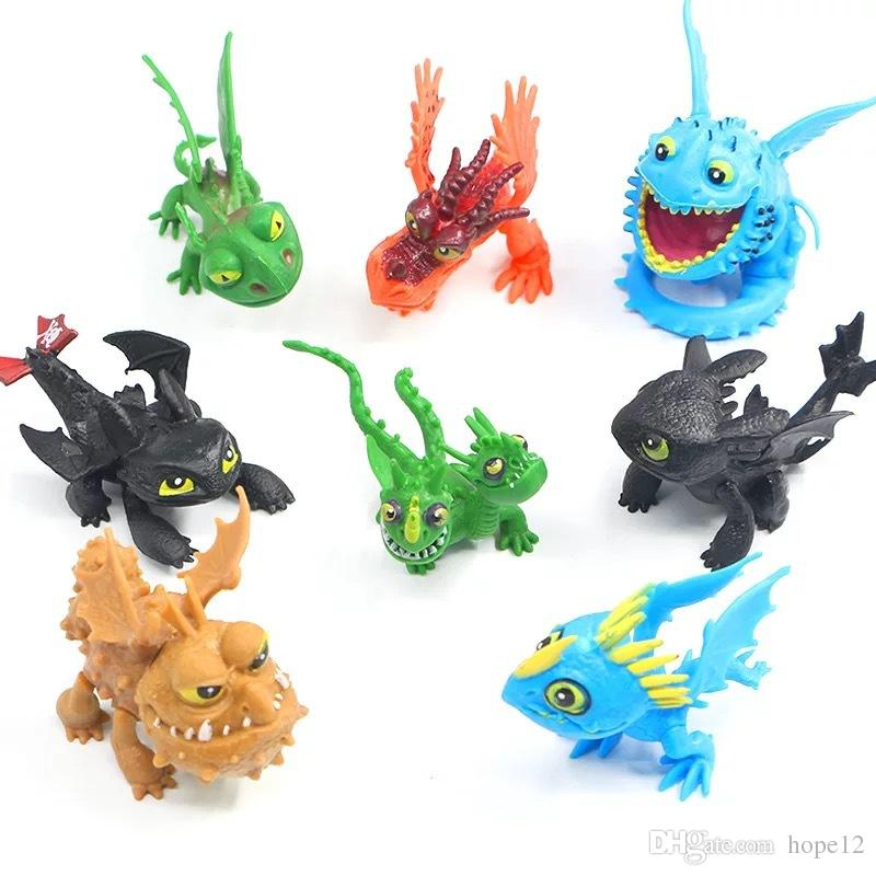 How to Train Your Dragon2 PVC Action Figures Toy Doll NightFury Toothless Dragon Free shipping