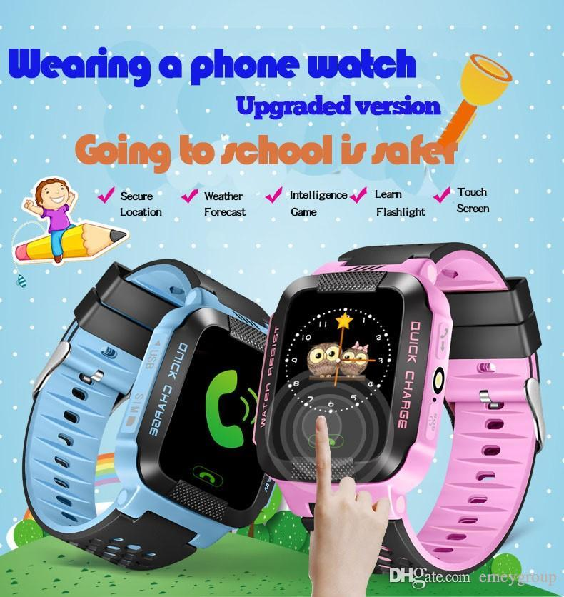 Yisailing Q528 Smart Watch Phone Y21 Children Kid GPS SmartWatch Touch screen SOS GSM GPS LBS Locator Tracker for ios android