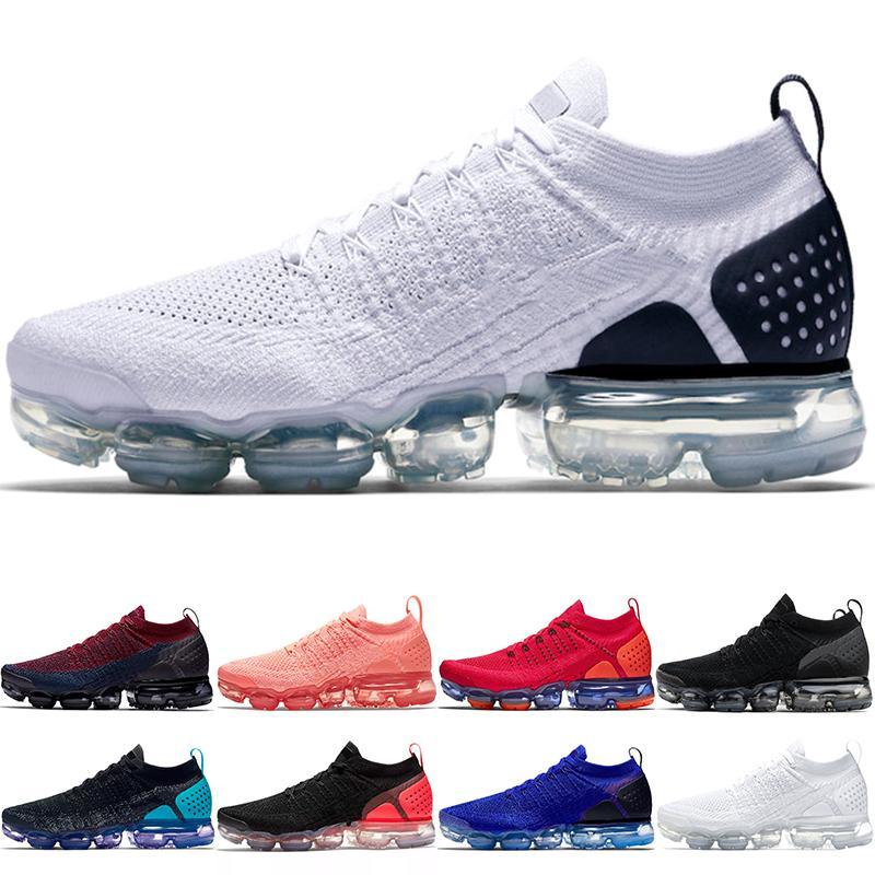 Nike Air Vapormax 2019 Xamropav 2.0 Hombres Mujeres Zapatos Para Correr Triple Negro Blanco Olímpico Rojo Órbita Oreo Gris Trabajo Azul Barato Nuevo